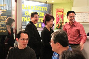 Keith welcoming Mr Alan Yit, Mrs Lily Kong-Yit and family. Seen here at fore are Dominique Siew Tu chatting with Tee Young
