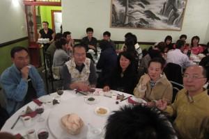 Mr Chau Yau, Mrs Theresa Chau and their friends pre-dinner