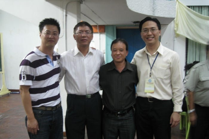 Our delegates Danny Chan (left) and Keith Yong (right) with Tim MU (2nd from left), the President of the Australian Northern Territory Hakka Association and one of their committee member