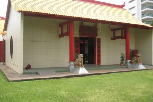 A Chinese temple maintained and managed by the Chinese community in NT
