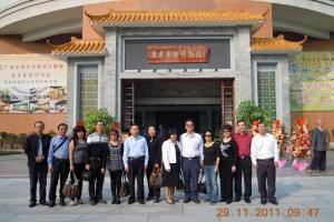 One of the group members with other officials at the Overseas Chinese Museum (华侨博物館). The only other group member missing in this photo was Jonas Yong who had to divert to Hong Kong for a trade conference by the Hong Kong Australia Business Association