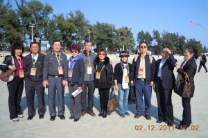 """At Beihai's famous """"White-Sand"""" beach while on tour"""