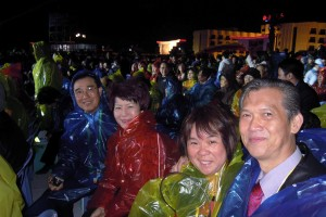 Even the rain coats provided by the Organisers and all the warm clothes the delegates could gather, few could withstand the cold winds, and most had to leave before the end when the rain arrived