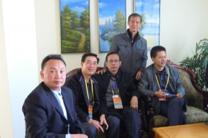 The handsome and gallant gentlemen of the delegation with a Beihai Hakka Government official assigned to show us around. From left: Zhang Xiaoting, Alan Yit, Peter Hoe and Norman Chia