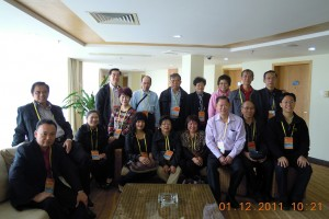 The group at the hotel with some new found friends from other Hakka Associations around the world. Norman Chia's brother (seated second from left) who is President of a Hakka Association in Canada