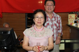 Mrs Agnes Yapp won a prize donated by Dominic