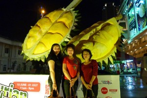 At the durian buffet fair, Penang