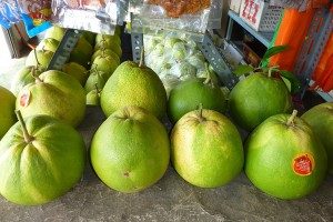 Tambun pomelos - big, and a choice of sweet or bitter
