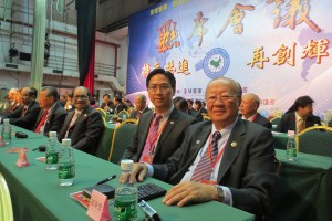 Datuk Wong Pin Chung and President Keith Yong in conference