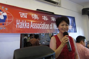 Organising Chairwoman Ms Lily Kong-Yit giving her welcome speech