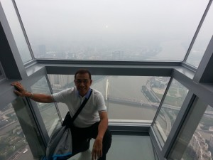 Cyril up at the top of Canton Tower