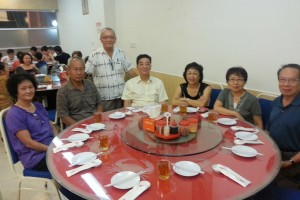 First of two tables. Assistant Secretary Chris SL Wong happened to be in KK so he joined in.