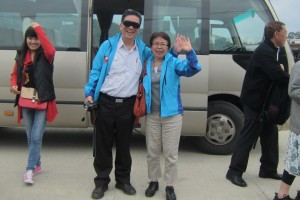 Arrived at Zijin...so happy! With Ms Wang of Shenzhou Tours