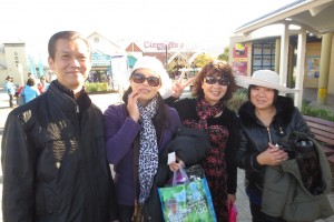 Norman and Annie with Anna Zhang and her Auntie from Meizhou