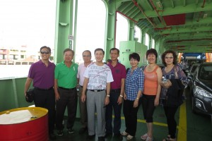 On the ferry from Penang Island to mainland Malaya