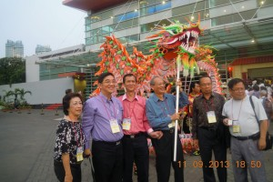 Dragon & Lion Dances to welcome us, and they even allowed James to do his best with the Dragon!