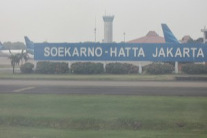 Leaving Jakarta Airport for Perth