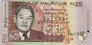 Bank note of Mauritius