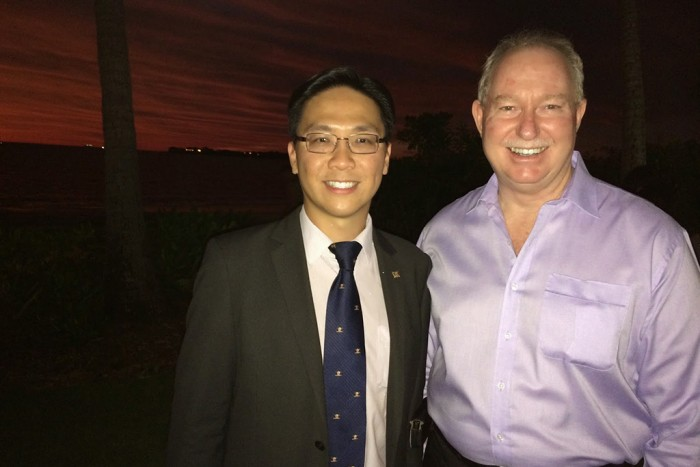 President Cr. Keith Yong with Minister for Multicultural Affairs Hon. Peter Styles MLA